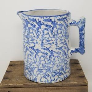 Other - Farmhouse Pitcher blue pottery handmade Vintage